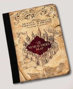 Amazon.com: Harry Potter Inspired The Marauders Map ipad 2, 3 or 4 notebook case Leather: Computers & Accessories