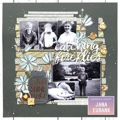 Catching Fireflies - America Crafts DIY Shop and Twillight collections + 1 Canoe 2 - Creekside Collection - 12 x 12 Double Sided Paper - Chicory Catching Fireflies, Project Life Album, Image Layout, Diy Shops, Paper Crafts, Diy Crafts, Photo Layouts, American Crafts, Scrapbooking Layouts