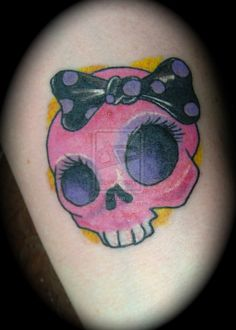 Girly skull tattoo by ~AdamRose on deviantART