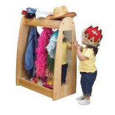 Toy dress up station! Love this idea,