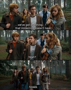 Yes, Harry & other Gryffindor's, you have NOSES, and Voldemort doesn't!!