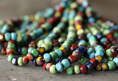 Czech Glass 6/0 Three Cut Picasso Mix No 1  1 by BobbiThisnThat, $2.70