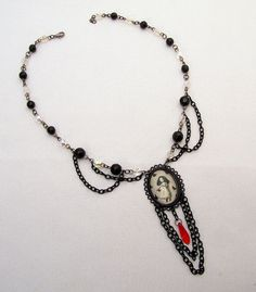 Beaded Gothic Lolita Fairytale Inspired Necklace by DecadentCandy, £15.00