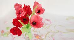 Des #fleurs en #papier #crépon                                                                                                                                                      Plus