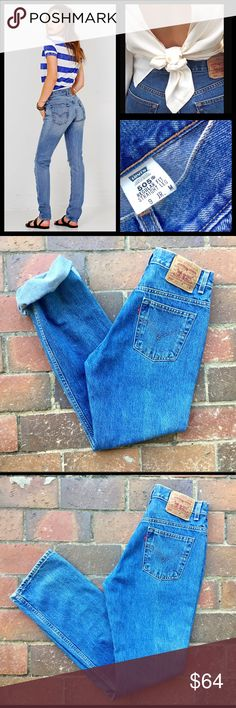 """Lєvi 505vίɴtαgє Highwaist Boyfriend Jeans ✦ Gorgeous Classic 90s Levi's Highwaist """"mom"""" jean ✦ Regular Fit/Straight Leg-Similar to 501 ✦ Perfect Medium Denim Wash ✦ Excellent Vintage Conditionno flaws ✦Tag size: 9 Jr (go by measurements) ✦Waist: 14 in (27-28)  ✦Rise: 10.5 ✦Hip: 19.5 ✦Thigh: 10.5 ✦Inseam: 30 (cute rolled up) ✦Leg Opening: 7 ✦100% Cotton-Made in USA These are  Levi's originals (vintage) Not from highly coveted Reformation (RE/done) line costing 2x the $$ ❌Bundle to save 20%…"""