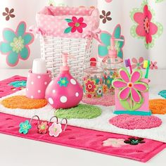 Bathroom Accessories For Girls girl bathroom decor. i love this design for a little girls