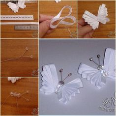 How to make Easy Ribbon Butterfly tutorial and instruction. Follow us: www.facebook.com/fabartdiy