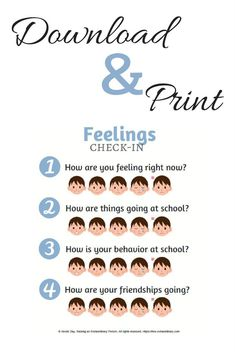 Help children deal with feelings by using this free downloadable and printable visual guide.