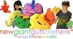 I Love Guts Stuffed Animals | Heart Guts, Love Your Insides. Like stuffed animals, but stuffed ...