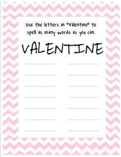 Mrs. A-Colwell's Class: Valentine Spelling FREEBIE