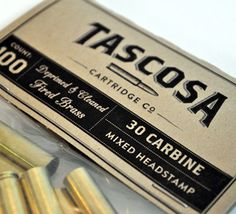 Identity: Tascosa Cartridge Co. Corporate Design, Corporate Identity, 30 Carbine, 1920s Speakeasy, Guns And Ammo, Cover Design, Eye Candy, Typography, Brand Inspiration