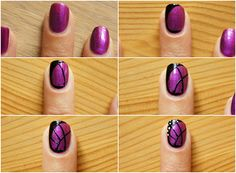 butterfly wing nail art tutorial