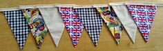 British Beer and Union Jack Fabric Bunting by MollyFelicityDesigns, £10.00