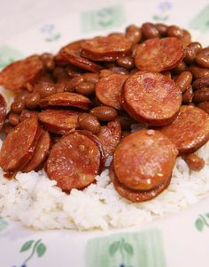 Red Beans & Rice. A tried a true recipe from my New Orleans grandfather!