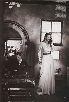 Lara Stone, Alexander Skarsgård, Frida Gustavsson   Peter Lindbergh   Vogue US July 2011  Spellbound