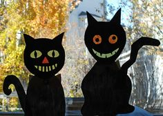 that artist woman: Halloween Crazy Cats