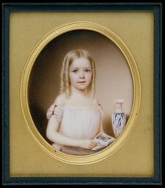 """Kate Roselie Dodge"" by John Wood Dodge (1854) at the Metropolitan Museum of Art, New York"