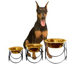HotDogCollars.com - Olympic Diner Stand Raised Dog Feeder, $20.95 (http://www.hotdogcollars.com/olympic-diner-stand-raised-dog-feeder/)