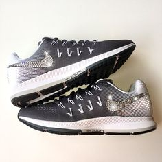 8cc3bc2b80d0d Bling Nike Air Zoom Pegasus 33 Shoes with Swarovski Crystals   Dark Grey    Bedazzled w  100% Authentic Swarovski Crystal Rhinestones