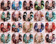 LOT 10pcs 925 Sterling Silver Murano Glass Beads Fit European Charms Bracelets  #European