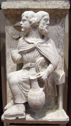 Maestro dei mesi, giano bifronte (anno vecchio e anno nuovo) gennaio, 1225-1230 ca. from Musei Italiani's FB page https://www.facebook.com/MuseoItalia/photos/a.909946759087207.1073742400.128222747259616/909953309086552/?type=3