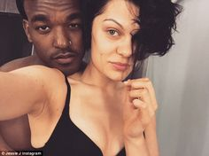 Au naturel: Jessie J snaps herself getting ready for bed with boyfriend Luke James as they holiday in Jamaica
