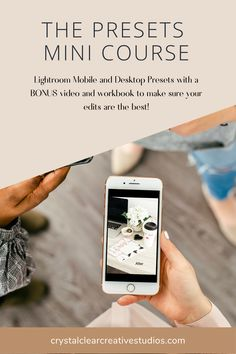 Lightroom Mobile and desktop Presets with a BONUS video and workbook to make sure your edits are the best!