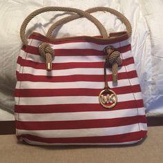 Michael Kors shoulder bag Nautical design, canvas bag with rope handles Michael Kors Bags Shoulder Bags