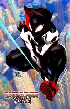 Deadpool And Spiderman, Spiderman Spider, Amazing Spiderman, Marvel Comics Art, Marvel Comic Universe, Marvel Heroes, Power Rangers, Spider Art, Spider Verse
