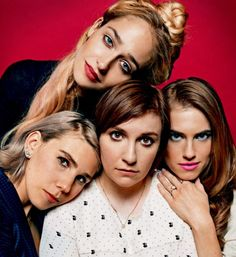 Jemima Kirke, Allison Williams, Lena Dunham and  Zosia Mamet, photographed by Peter Hapak for People magazine, Jan 17, 2015.
