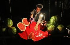 An Afghan street vendor cleans his workspace as he waits for customers in Kabul on June (Rahmat Gul/AP) Fotojournalismus, Street Vendor, Afghanistan, History, Crafts, Painting, Asia, June, Historia