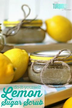Best DIY Projects: This stuff makes my hands and feet so soft and smooth!! How to Make Lemon Sugar Scrub