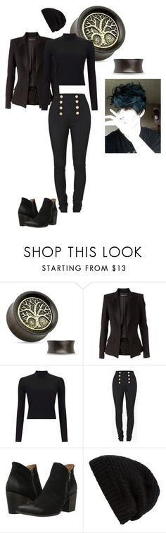"""""""Ms. Peregrines Home For Peculiar Children"""" by rebelgeneration ❤ liked on Polyvore featuring Alexandre Vauthier, Miss Selfridge, Balmain, Freebird and Rick Owens"""