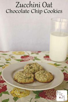 Make these zucchini oat chocolate chip cookies as a tasty way to use up the ever. Make these zucchini oat chocolate chip cookies as a tasty way to use up the ever abundant garden fresh zucchini. Real Food Recipes, Cookie Recipes, Dessert Recipes, Yummy Food, Desserts, Budget Recipes, Delicious Recipes, Healthy Recipes, Matcha
