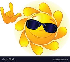 Cute sun with sunglasses Royalty Free Vector Image , Sun With Sunglasses, Cat Eye Sunglasses, Mirrored Sunglasses, Cute Sun, Sun Tattoos, Deaf Culture, It's Always Sunny, Images Google, Good Morning Images