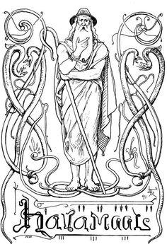 Wise one Odin by Lorenz Frølich 1895