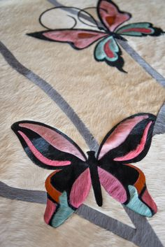 Custom Butterfly Panel Piece from Kyle Bunting. #design #decor #color