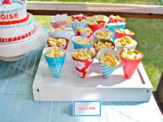When you shape scrapbook paper into treats cones, everyone gets a carnival-inspired surprise. Learn how at smashedpeasandcarrots.blogspot.com.