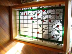 vitraux con guarda verde y flores recortadas floral stained glass.-  #vitraux  #vidrio   #glass-art  #vetrata-decorata