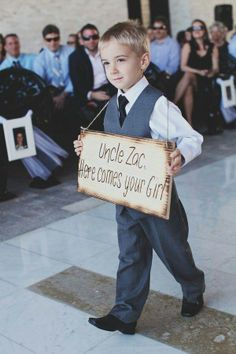 Do you have a little nephew to do this on your wedding day