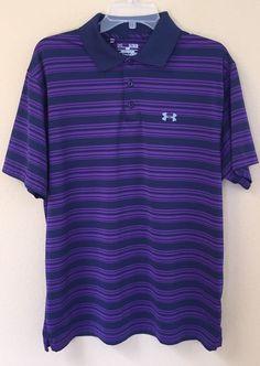 Under Armour Shirt Polo Golf Loose Fit Navy Purple Sz XL | eBay