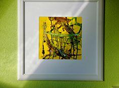 Acrylmalerei - abstraktes Bild, grün, gold, Acryl, gerahmtes Bild - ein Designerstück von Atelier-Melanie-Landgraf bei DaWanda, Weihnachtsgeschenk, Bild, gold, gelb, weiß, grün, gerahmtes Bild, weißer Rahmen, weißer Bilderrahmen, Malerei, abstrakte Kunst, Acrylmalerei - Bild, abstrakt, Tulpe, Blume, Acryl - ein Designerstück von Atelier-Melanie-Landgraf bei DaWanda, Geschenk für Mama, Geschenkidee, Geschenk für Freundin, beliebte Weihnachtsgeschenke, Unikat, Ikea, edles Geschenk, besonder