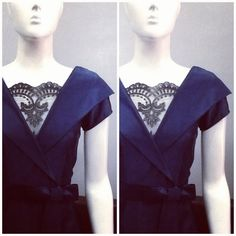 Navy with Black Lace