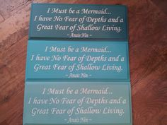I Must Be a Mermaid SIGN by AquamarineSigns on Etsy, $19.99