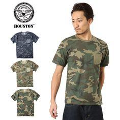 HOUSTON ヒューストン 21132 MILITARY カモフラージュ ポケットTシャツ