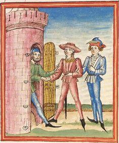 Pontus und Sidonia — Stuttgart (?) - Werkstatt Ludwig Henfflin, um 1475 Cod. Pal. germ. 142 Folio 7r