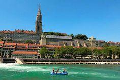 Prächtig Vom Wasser aus präsentiert sich die Berner Altstadt.