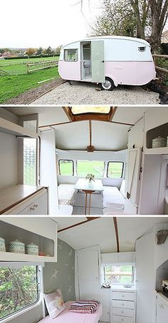 Very first camper! Not with pink though. Much smaller too. All white. These were the days! Camping almost every weekend!