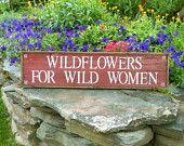 FREE WEEDS sign - Yellow with garden trowel - Simple, Rustic, Unique - Handmade Signs - Garden Decor - Indoor and Outdoor Signs. $40.00, via Etsy.