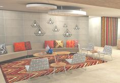 FSG Africa Render of a Global Engineering Office. All locally sourced fabrics; furniture and lighting. Proudly South African Design